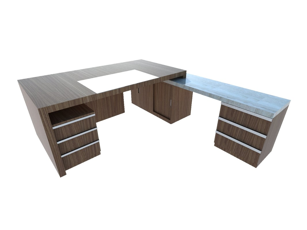 3D office desk executive