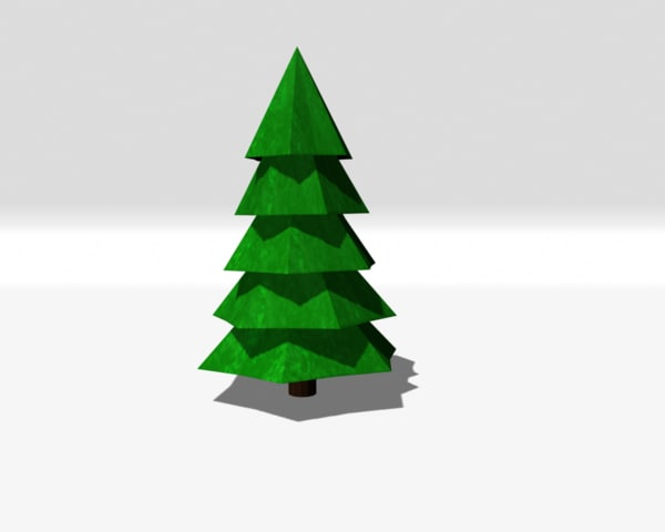 3D tree pinetree
