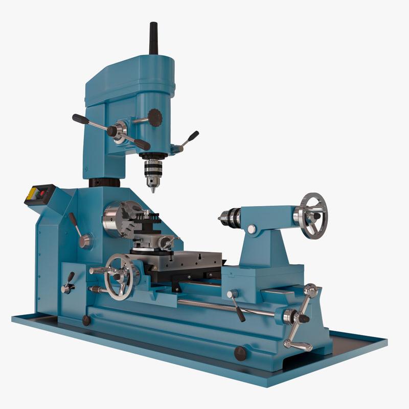 lathe machine 3D model