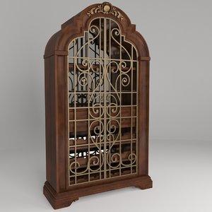 3D wine cabinet