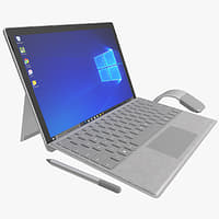 The New Microsoft Surface Pro 2017 + Type Covers & Mouse & Pen All Colors (Rigged)