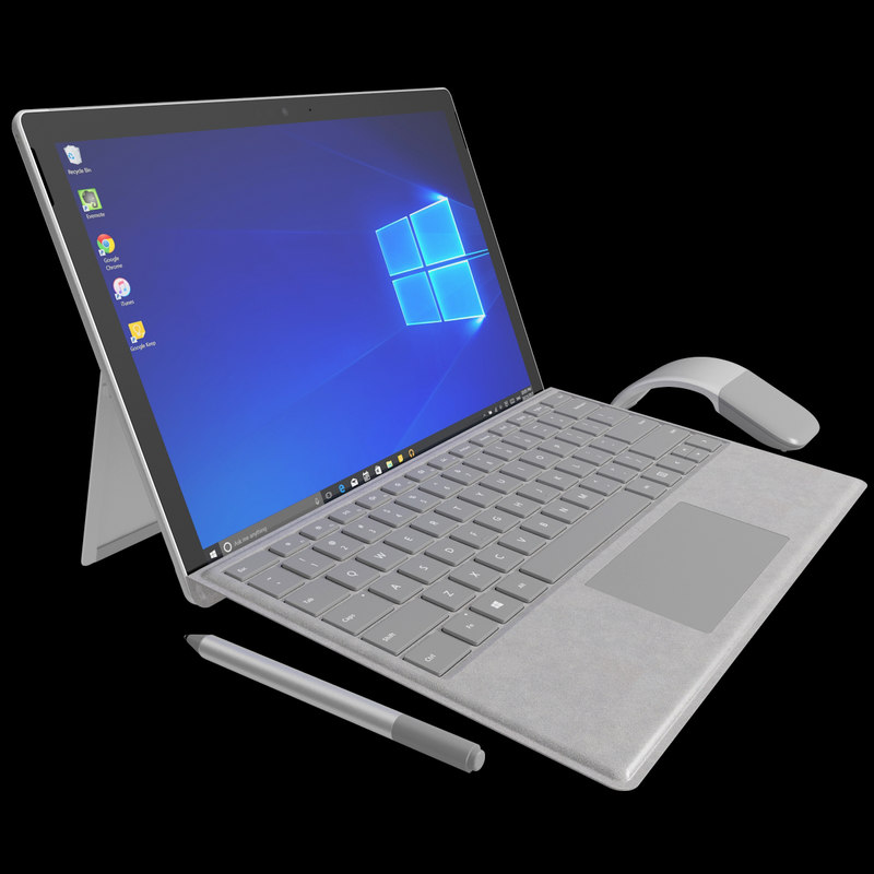 realistic new microsoft surface 3D