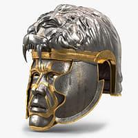 medieval lion helmet 3D