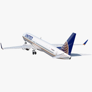 boeing 737-900 united airlines 3D model