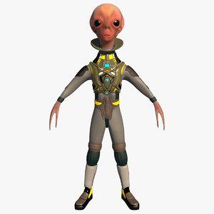 alien creature 3D