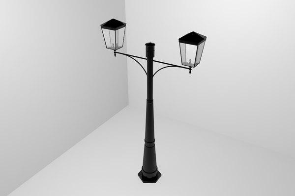 3D lamp pole street light model
