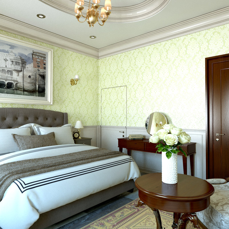 Classic Bedroom Design 48D Model TurboSquid 11648749 Custom 3D Bedroom Design Property