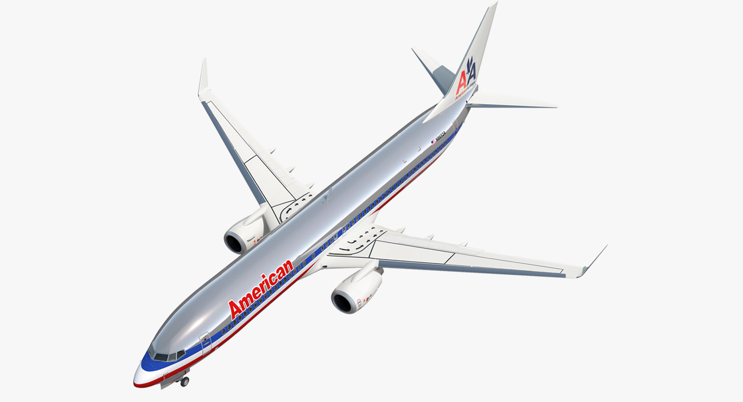 3D model boeing 737-900 american airlines