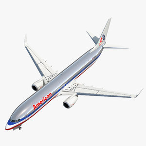 3D model boeing 737-900 american airlines
