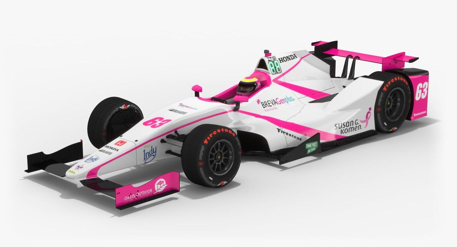 3D dale coyne racing indy model
