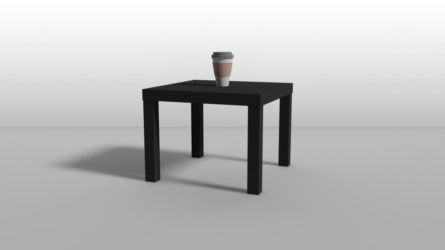 3D ikea lack - table model