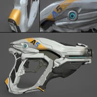 3D model sci-fi gun