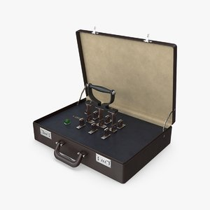 3D attache case knife switch model