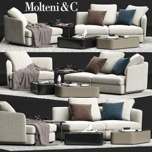 molteni c sloane sofa 3D model