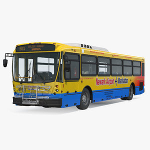 bus nabi 416 nyc 3D model