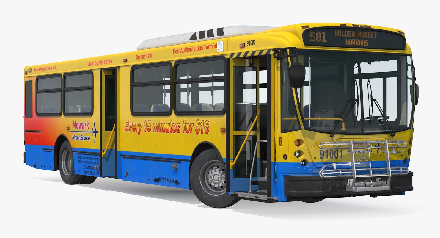 3D model bus nabi 416 nyc