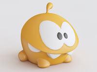 stuff toy orange crazy 3D model