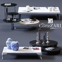 3D corte zari coffee tables