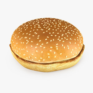 hamburger bun 3D model