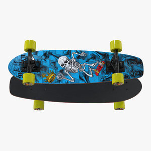 kicktail skateboard 3D model