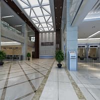 bank hall 3D model