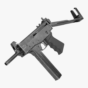 submachine gun pp-91 kedr 3D model