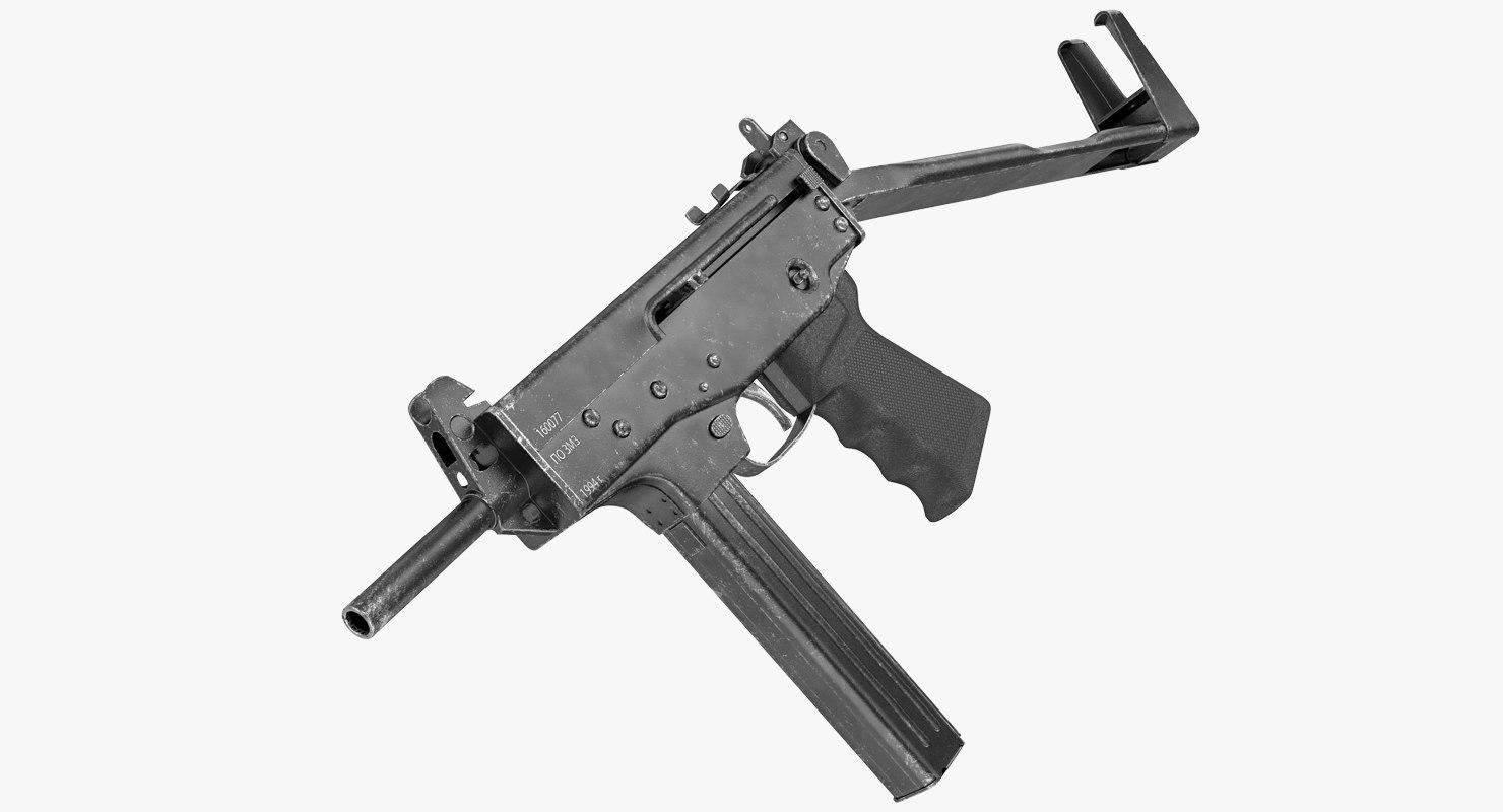 submachine gun pp-91 kedr 3D model