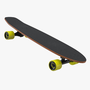kicktail skateboard generic 3D model