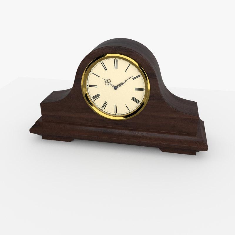 mantel clock 3D model