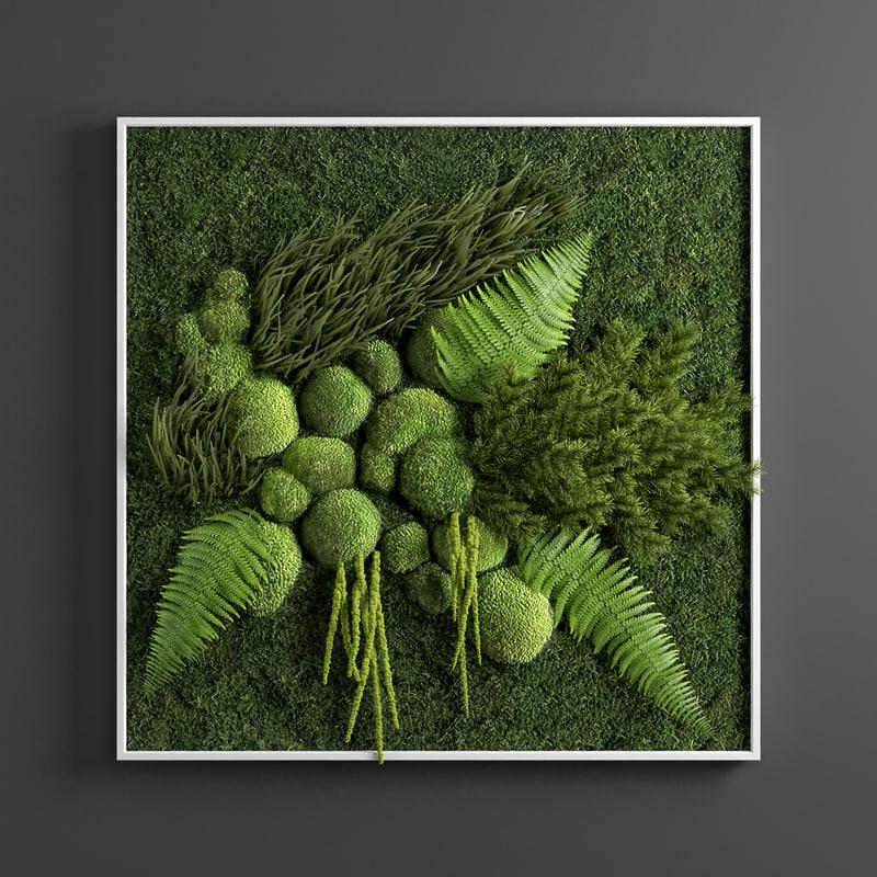 panel green 3D model