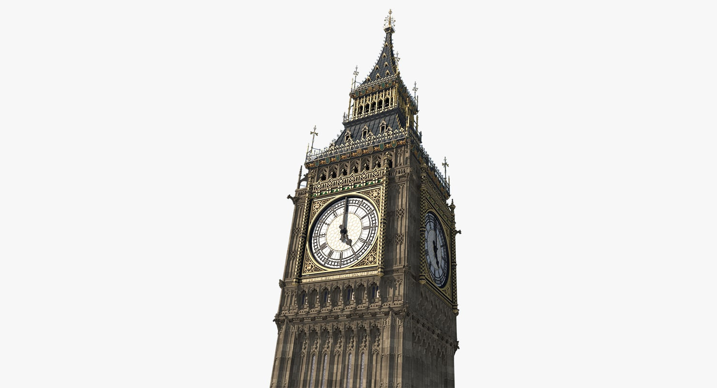 3D big ben tower elizabeth
