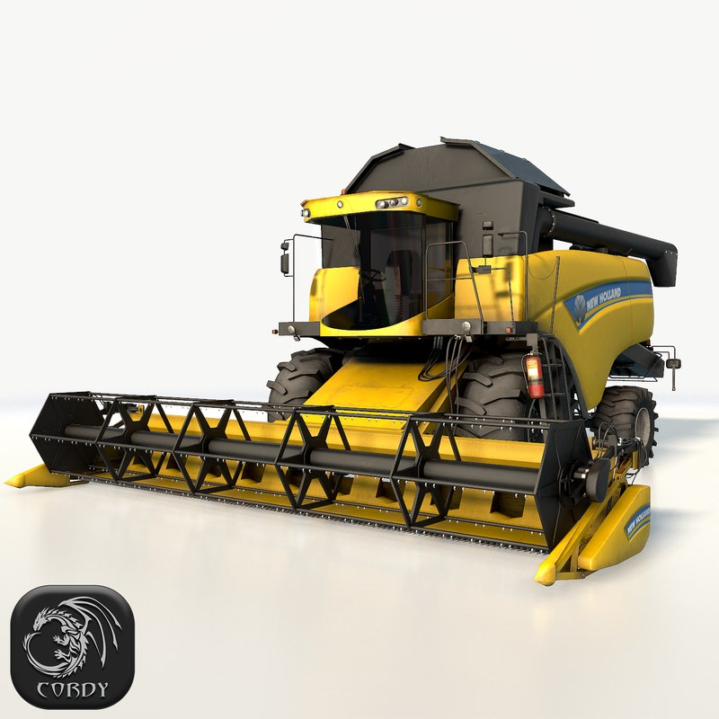 3D new holland cx6090 combine