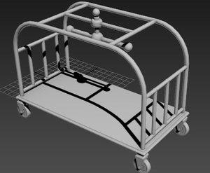 hotel lagguage cart 3D