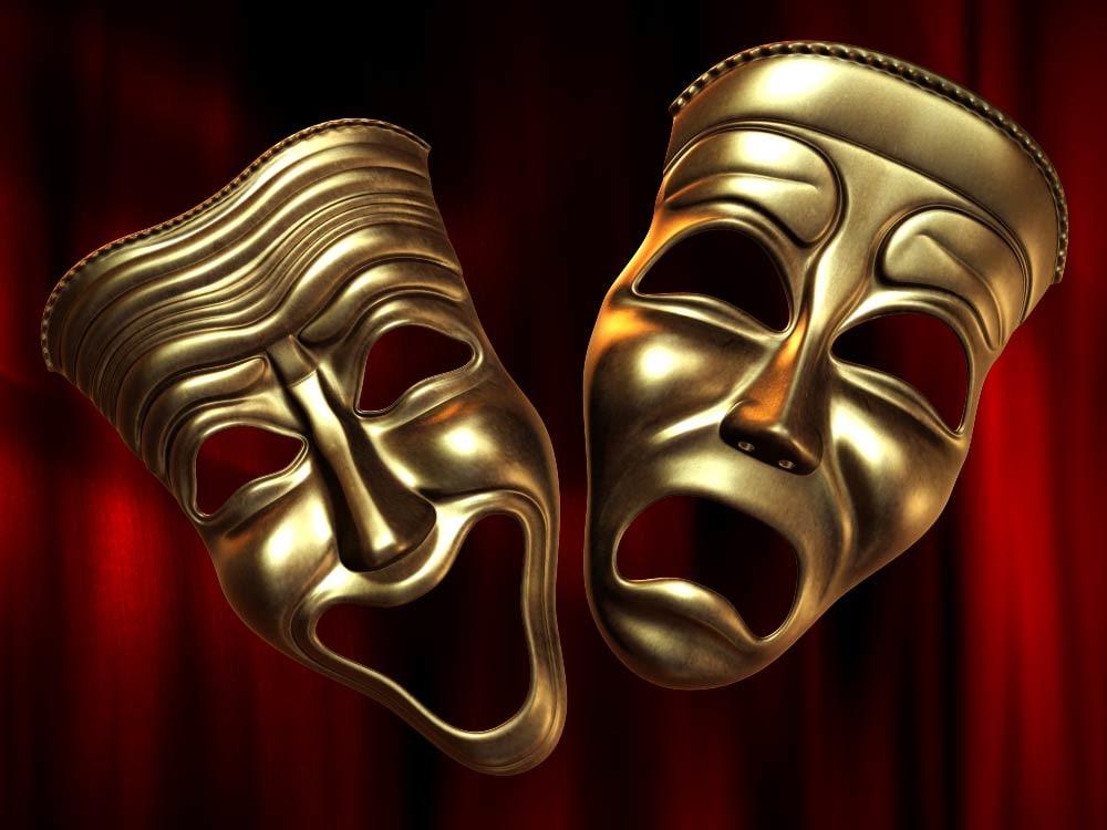 theatre happy sad masks 3D model