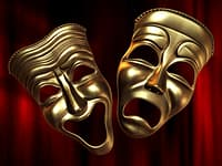theatre happy sad masks 3D model