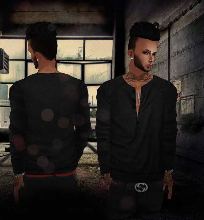 imvu Black T-shirt