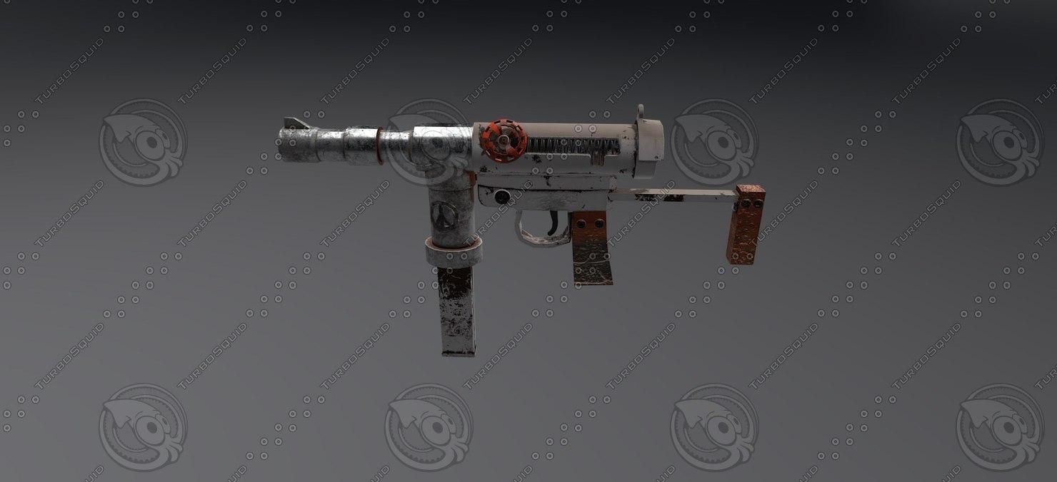 3D homemade machine gun