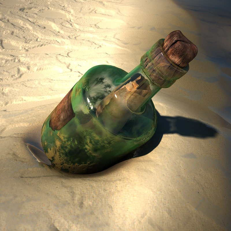 modeled bottle 3D model