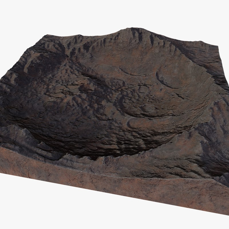 crater asteroid 3D model