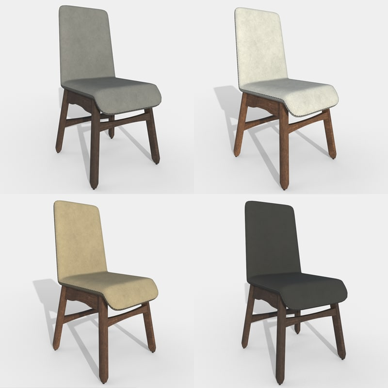 dining table fabric chair 3D