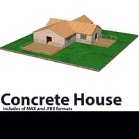 3D house roof
