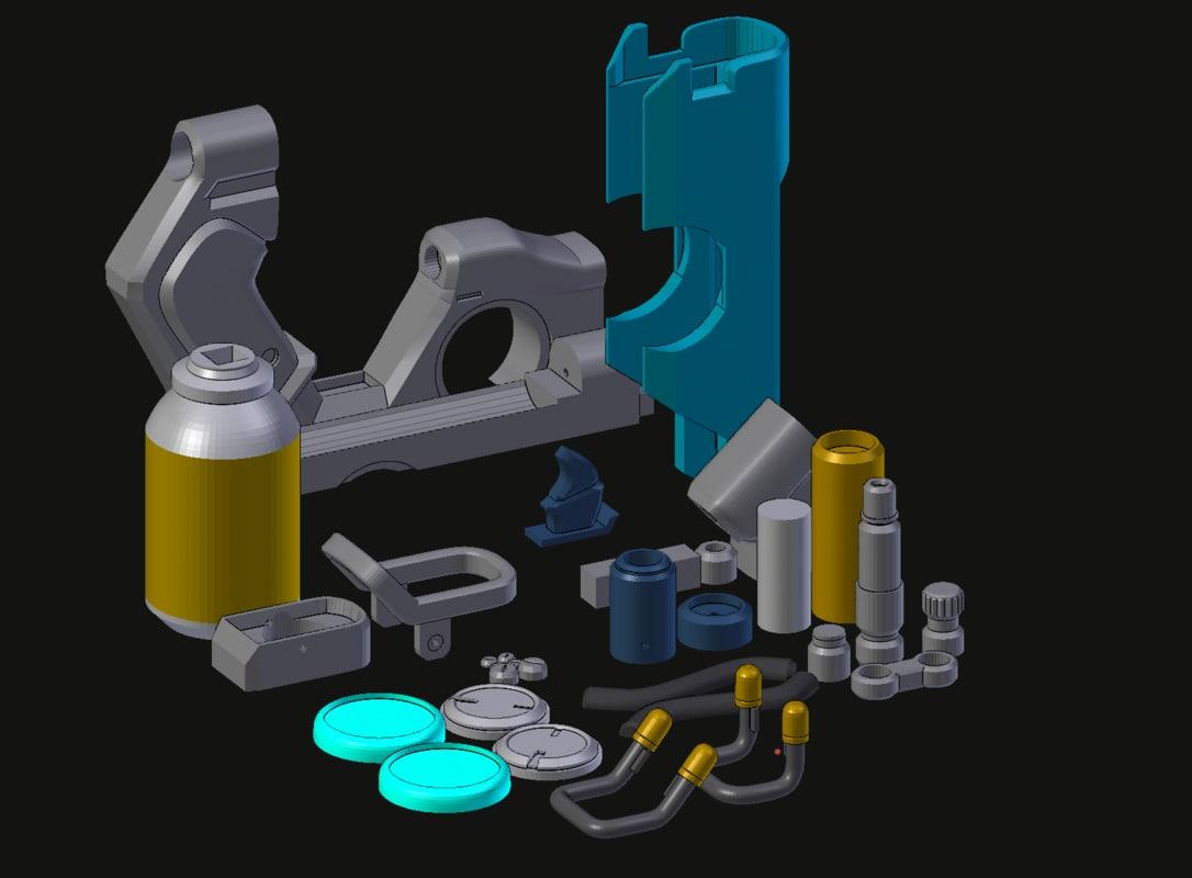 3D tracer pulse pistols model