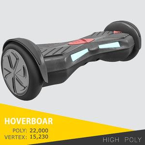 hoverboard board hover 3D