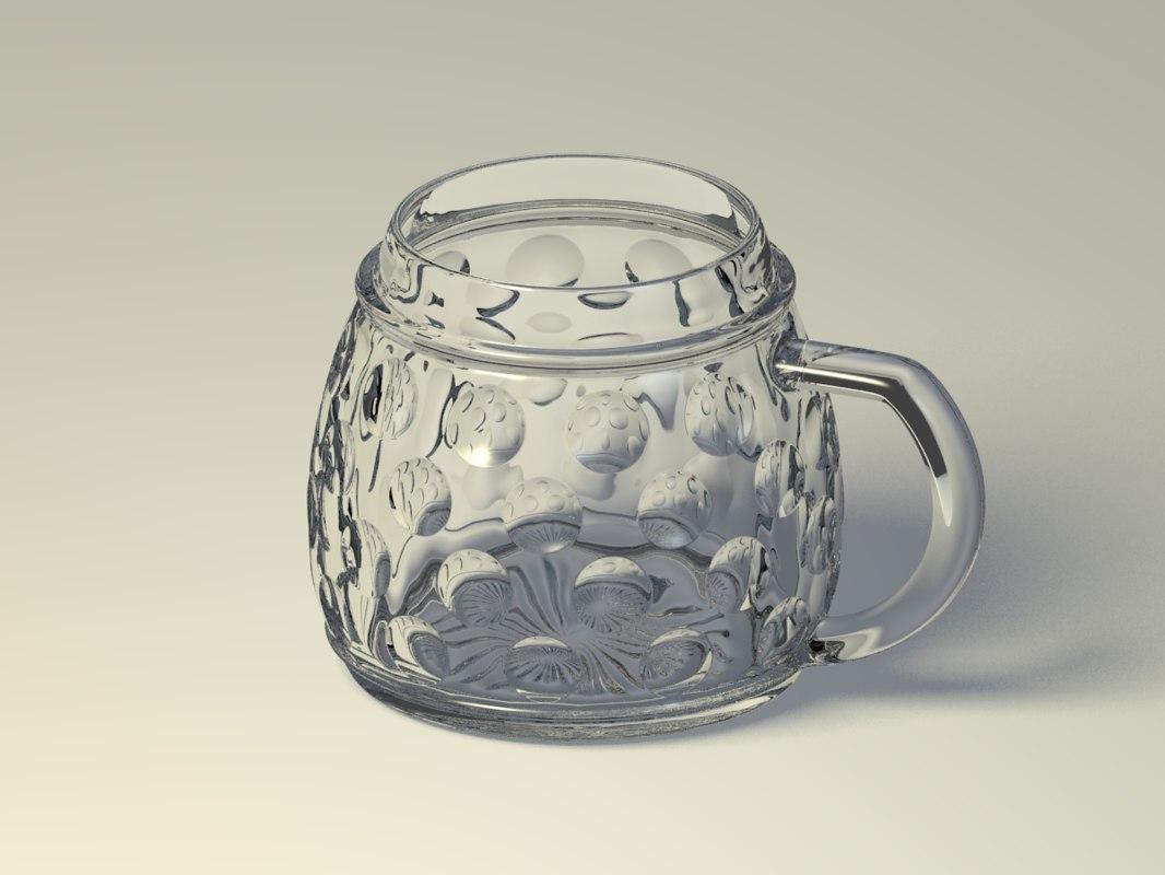 glass jug 3D model