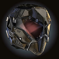 Helmet Chemical Mask Sci-fi HD