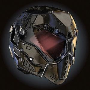 3D sci-fi helmet hd chemical model