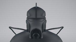 3D space explorer model