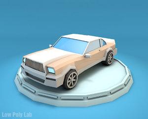 luxury car cartoon 3D model