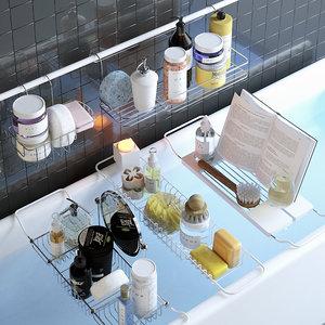 3D shelves decor model