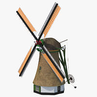 3D windmill dutch -